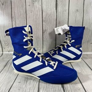 Adidas Box Hog 3 Blue Mens Boxing Shoes Sz 9.5